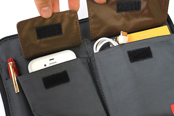 Lihit Lab Teffa Bag in Bag - A5 - Black - LIHIT LAB A-7553-24