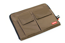 Lihit Lab Teffa Bag in Bag - A5 - Brown - LIHIT LAB A-7553-9