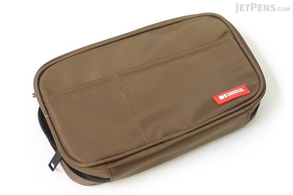 Lihit Lab Teffa Pen Case - Book Style - Brown - LIHIT LAB A-7551-9