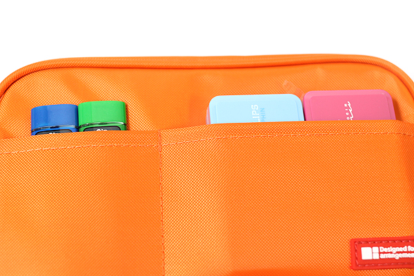 Lihit Lab Teffa Pen Case - Book Style - Orange - LIHIT LAB A-7551-4