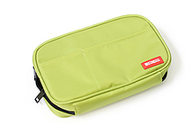 Lihit Lab Teffa Pen Case - Book Style - Yellow Green - LIHIT LAB A-7551-6