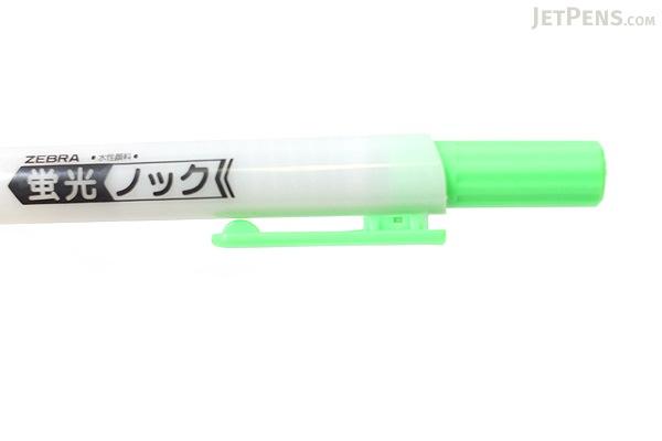 Zebra Knock Highlighter Pen - Green - ZEBRA WKS10-G