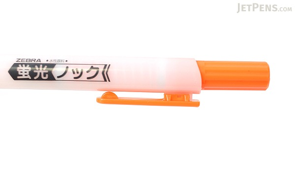 Zebra Knock Highlighter Pen - Orange - ZEBRA WKS10-OR