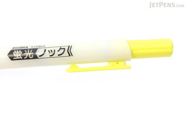 Zebra Knock Highlighter Pen - Yellow - ZEBRA WKS10-Y