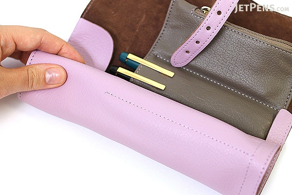 Cplay Sevenroll Leather Pencil Case - French Lilac Purple - CPLAY 8809179924955