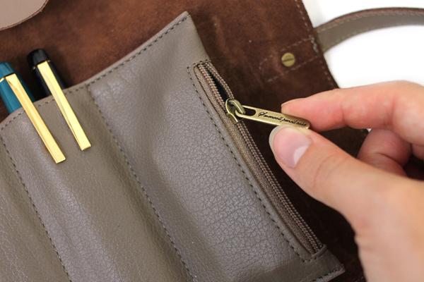 Cplay Sevenroll Leather Pencil Case - Grayish Mocha Brown - CPLAY 8809179924979