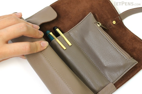 Cplay Sevenroll Leather Pencil Case - Grayish Mocha Brown - CPLAY 8809179924979