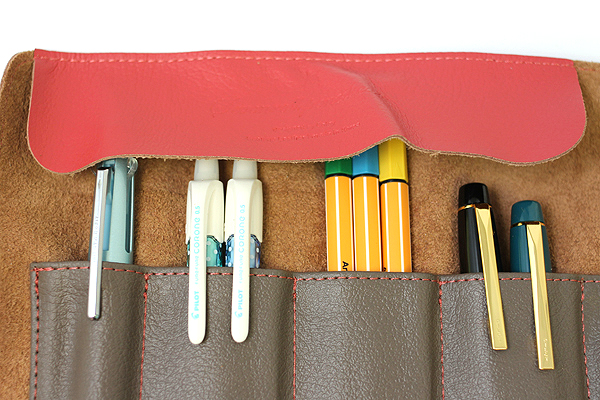 Cplay Sevenroll Leather Pencil Case - Sweet Cherry Red - CPLAY 8809179924962