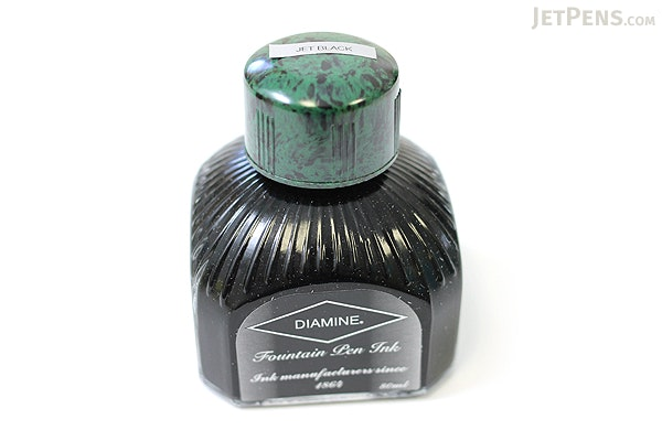 Diamine Jet Black Ink - 80 ml Bottle - DIAMINE INK 7000