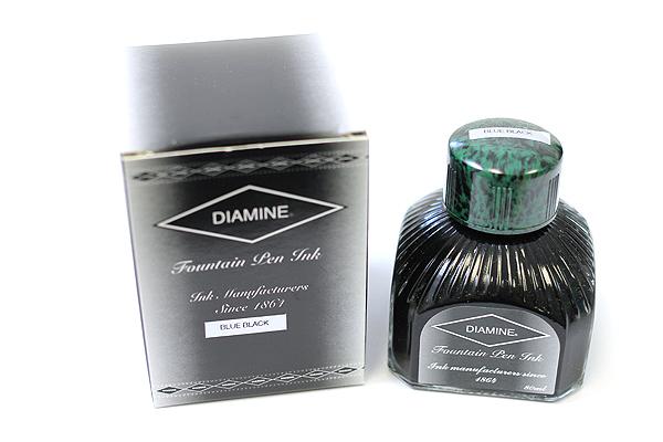 Diamine Fountain Pen Ink - 80 ml - Blue Black - DIAMINE INK 7001