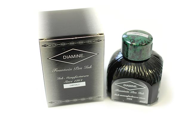 Diamine Fountain Pen Ink - 80 ml - Emerald - DIAMINE INK 7004