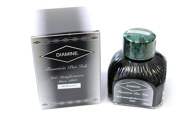 Diamine Fountain Pen Ink - 80 ml - Monaco Red - DIAMINE INK 7009