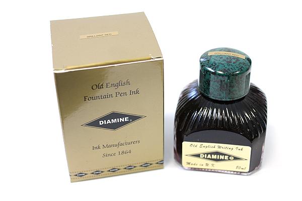Diamine Fountain Pen Ink - 80 ml - Brilliant Red - DIAMINE INK 7010