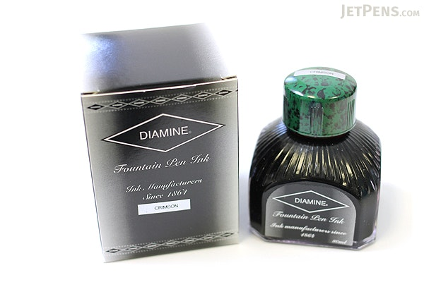 Diamine Crimson Ink - 80 ml Bottle - DIAMINE INK 7012