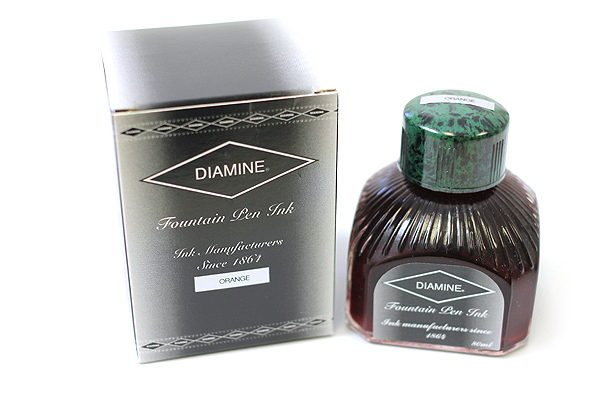 Diamine Fountain Pen Ink - 80 ml - Orange - DIAMINE INK 7017