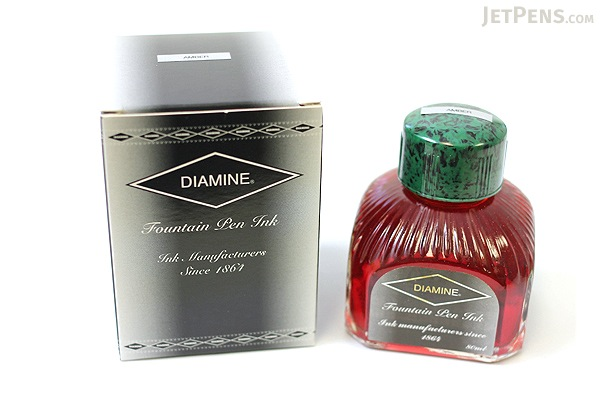 Diamine Amber Ink - 80 ml Bottle - DIAMINE INK 7020