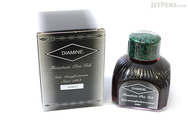 Diamine Scarlet Ink - 80 ml Bottle - DIAMINE INK 7021