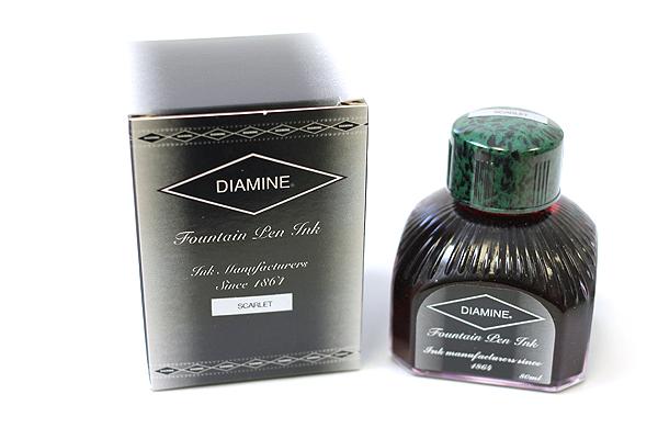 Diamine Fountain Pen Ink - 80 ml - Scarlet - DIAMINE INK 7021