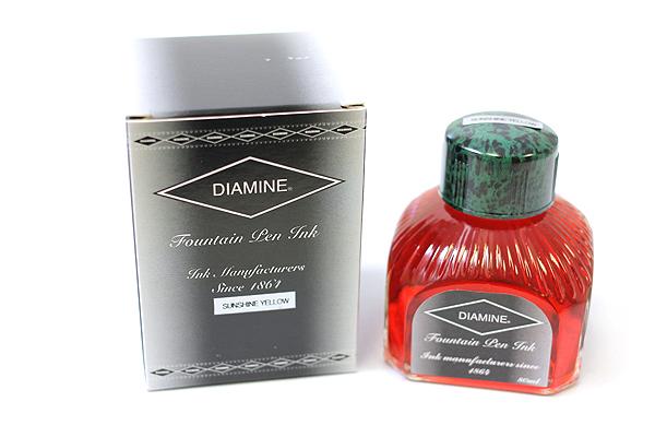 Diamine Fountain Pen Ink - 80 ml - Sunshine Yellow - DIAMINE INK 7027