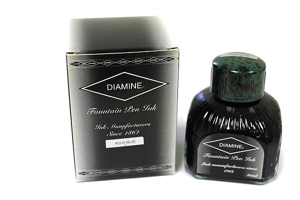 Diamine Fountain Pen Ink - 80 ml - Aqua Blue - DIAMINE INK 7033