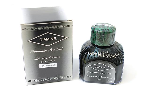 Diamine Fountain Pen Ink - 80 ml - Sapphire Blue - DIAMINE INK 7034