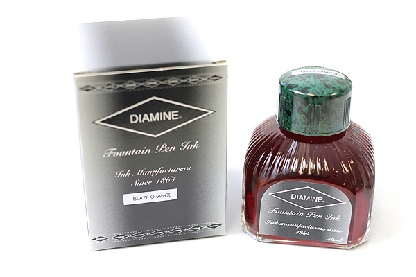 Diamine Fountain Pen Ink - 80 ml - Blaze Orange - DIAMINE INK 7035