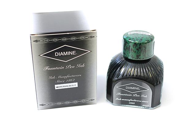 Diamine Fountain Pen Ink - 80 ml - Mediterranean Blue - DIAMINE INK 7036