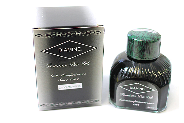 Diamine Fountain Pen Ink - 80 ml - Woodland Green - DIAMINE INK 7037
