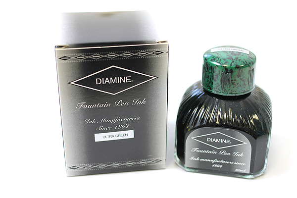 Diamine Fountain Pen Ink - 80 ml - Ultra Green - DIAMINE INK 7051