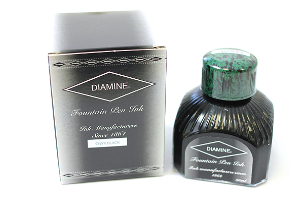 Diamine Fountain Pen Ink - 80 ml - Onyx Black - DIAMINE INK 7053