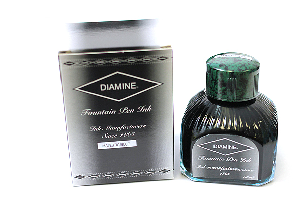 Diamine Fountain Pen Ink - 80 ml - Majestic Blue - DIAMINE INK 7056