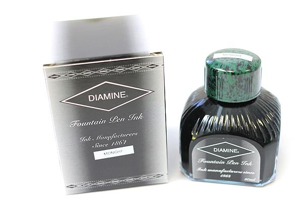 Diamine Fountain Pen Ink - 80 ml - Midnight - DIAMINE INK 7063