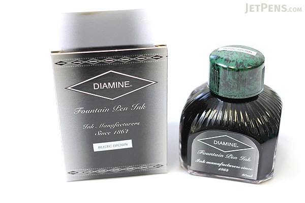 Diamine Rustic Brown Ink - 80 ml Bottle - DIAMINE INK 7067