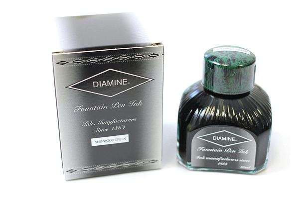 Diamine Fountain Pen Ink - 80 ml - Sherwood Green - DIAMINE INK 7074