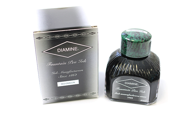 Diamine Fountain Pen Ink - 80 ml - Red Dragon - DIAMINE INK 7077