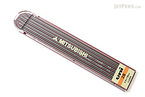 Uni Mitsubishi Lead Holder Refill - 2 mm - 2B - Pack of 6 - UNI ULN2B