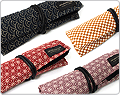 Saki Roll Pen Cases with Traditional Japanese Fabric