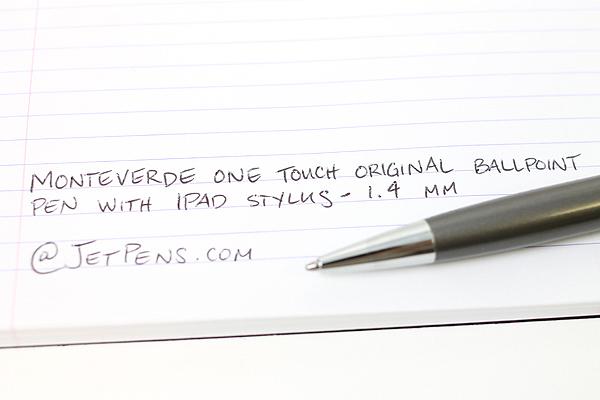 Monteverde One Touch Original Ballpoint Pen + Stylus - 1.4 mm - Graphite Gray Body - MONTEVERDE MV35370