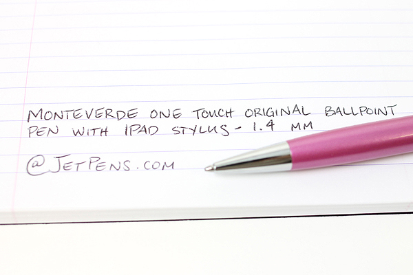 Monteverde One Touch Original Ballpoint Pen + Stylus - 1.4 mm - Sunset Pink Body - MONTEVERDE MV35372