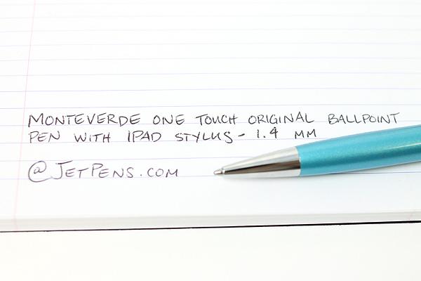 Monteverde One Touch Original Ballpoint Pen + Stylus - 1.4 mm - Aquamarine Blue Body - MONTEVERDE MV35375