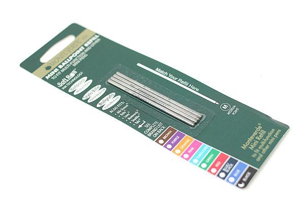 Monteverde Soft Roll Ballpoint Pen Refill - D1 - 0.7 mm - Black - Pack of 4 - MONTEVERDE D132BK