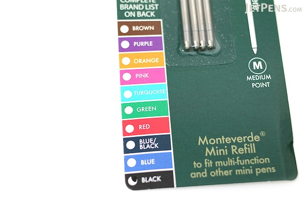 Monteverde Soft Roll Ballpoint Pen Refill - D1 - 0.7 mm - Brown - Pack of 4 - MONTEVERDE D132BN
