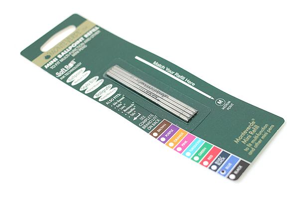 Monteverde Soft Roll Ballpoint Pen Refill - D1 - 0.7 mm - Blue - Pack of 4 - MONTEVERDE D132BU