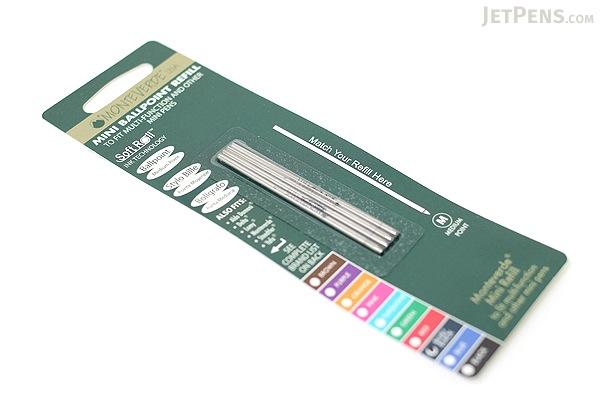 Monteverde Soft Roll Ballpoint Pen Refill - D1 - 0.7 mm - Blue Black - Pack of 4 - MONTEVERDE D132BB