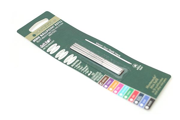 Monteverde Soft Roll Ballpoint Pen Refill - D1 - 0.7 mm - Brown - Pack of 4 - MONTEVERDE D132BN