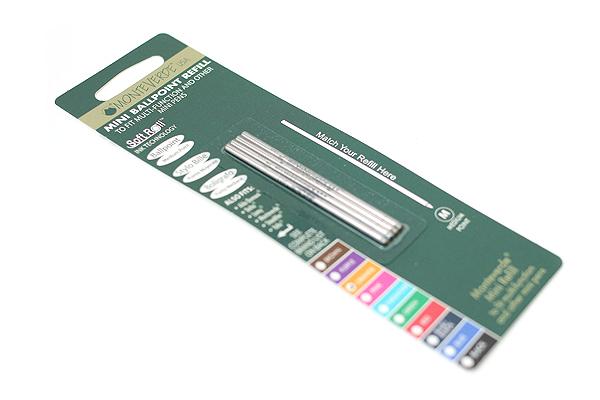 Monteverde Soft Roll Ballpoint Pen Refill - D1 - 0.7 mm - Orange - Pack of 4 - MONTEVERDE D132OR