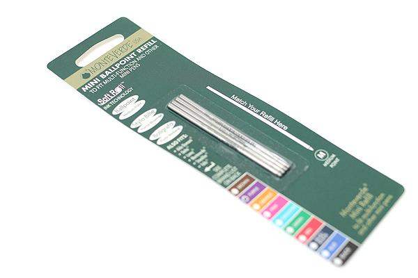 Monteverde Soft Roll Ballpoint Pen Refill - D1 - 0.7 mm - Purple - Pack of 4 - MONTEVERDE D132PL