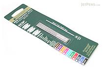 Monteverde Soft Roll Ballpoint Pen Refill - D1 - 0.7 mm - Turquoise - Pack of 4 - MONTEVERDE D132TQ