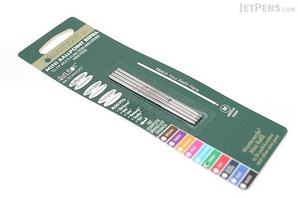 Monteverde Soft Roll Ballpoint Pen Refill - D1 - 0.7 mm - Green - Pack of 4 - MONTEVERDE D132GN