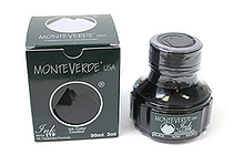 Monteverde Fountain Pen Ink with Ink Treatment Formula - 90 ml Bottle - Black - MONTEVERDE G308BK